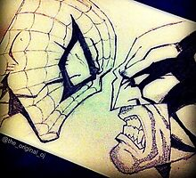 Spider-man vs. Wolverine by TheOriginalOJ