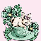 Bunny in Tea Cup by Ella Mobbs