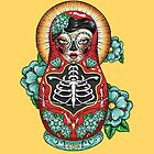 Day of The Dead Russian Doll by Ella Mobbs