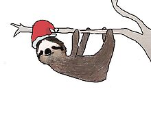 festive sloth by hallokittehxx