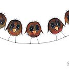 FIVE ROBINS by Hares & Critters