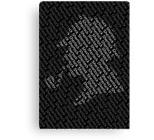 Sherlock Holmes Shadow Canvas Print