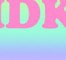 IDK Heart Sticker