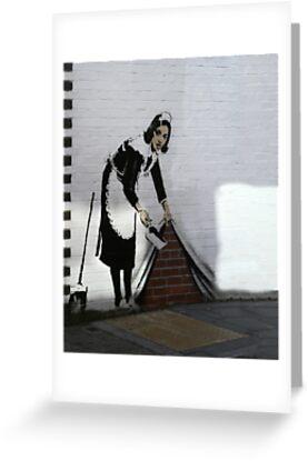 Banksy maid  by areyarey