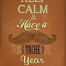 Vintage Happy New Year Calligraphic And Typographic Background by csecsi