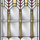 Frank Lloyd Wright Modern Window by henrybud