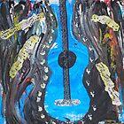 Grunge Guitar by Inner Child Art