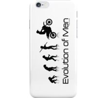 Evolution of Men- Off Road Motorcycle  iPhone Case/Skin