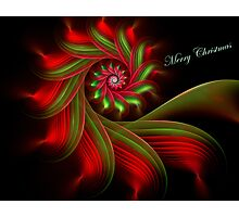 Christmas Ribbon Candy Greetings Photographic Print