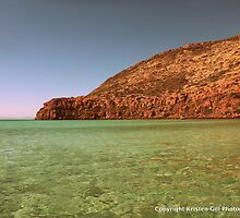 Sea of Cortez and Cliffs, Baja, Mexico by Kristen Gill