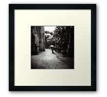 Rainy day in the cemetery Framed Print