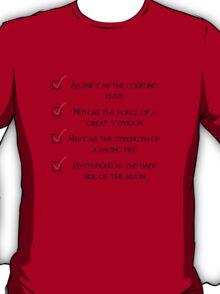 Be a Man Checklist T-Shirt