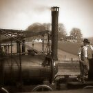 Mr. George Stephenson with his new Locomotive No1, 1825 by nigelphoto