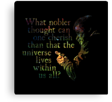 Nobler Thought - Neil DeGrasse Tyson Canvas Print
