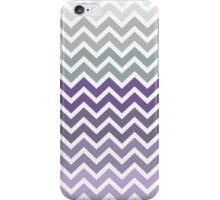 Purple Grey Fade Chevron Pattern iPhone Case/Skin