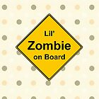 Lil' Zombie On Board by ZombieBubble