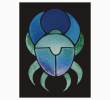 Blue Green Scarab by Elizabeth Lock