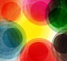 Colorful Retro Circles by Phil Perkins