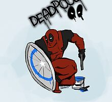 Deadpool Captain America by zombieCraig