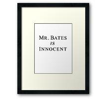 Mr.Bates is Innocent Framed Print