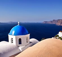 Blue of Santorini Island by Renzo Re