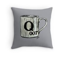 Letter Q, for 007 points... Throw Pillow