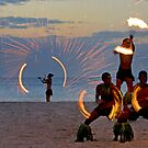 Fijian Fire Dancers by Beth  Wode