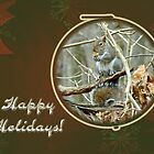 Happy Holidays Greeting Card - Gray Squirrel by MotherNature