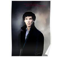 Sherlock portrait Poster