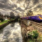 An HST at Little Bedwyn  by Rob Hawkins