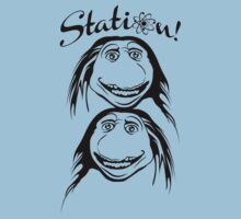 2 Up Station T-Shirt - Bill and Ted's Bogus Journey T-Shirt  by RDography