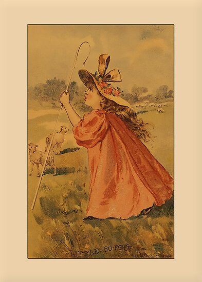 Vintage Bo-Peep Greetings by Yesteryears