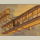 Vintage Bi-Plane Greetings by Yesteryears