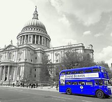 Blue Routemaster by DavidWHughes