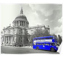 Blue Routemaster Poster