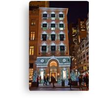 USA. New York. Manhattan. 5th Avenue Welcomes Christmas. Canvas Print