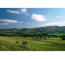 Great Ridge Hills, from the Pennine Way  Photographic Print