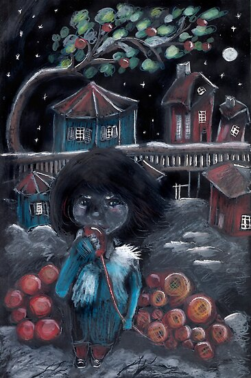 Midnight village by sandwoman