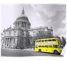 Yellow Routemaster Poster