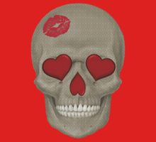Skull - Kissy Lips with Pattern by cpotter