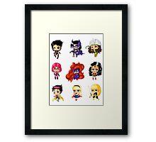 Chibi Heroines 2 Framed Print