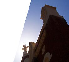 Claremont Church As Greeting Card by Robert Phillips