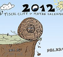 Mayan Calendar at Fiscal Cliff cartoon by Binary-Options