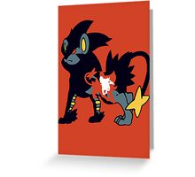 【11700+ views】Pokemon  Shinx>Luxio>Luxray Greeting Card