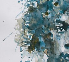Hendrix Watercolor Abstract by LoveringArts