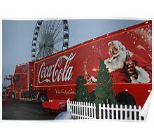 Coca cola truck stop Poster