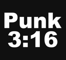 cm punk 3:16  by mallett