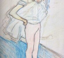 Reproduction of 'Dancer adjusting her tights' by Henri de Toulouse-Lautrec by tribal191983