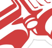 Red Binoculars Sticker