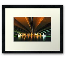 under the narrows.  perth, western australia Framed Print